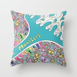 Love Monsters Throw Pillow