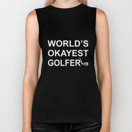 Boyfriend Gift Mens Gift Husband Gift Father Gift Golf Gift Gifts For Golfers Worlds Okayest Golfer Biker Tank