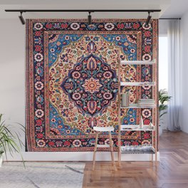 Kashan Central Persian Rug Print Wall Mural