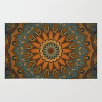 islam Area & Throw Rugs featuring Moroccan sun by Awispa