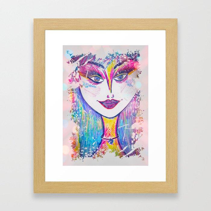 Stay Trippy, Little Hippie Framed Art Print