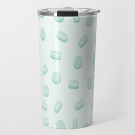 Mint Macaron Pattern Travel Mug
