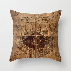 Marauders Map Throw Pillow