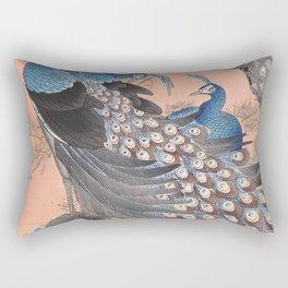 Regal Peacocks  Rectangular Pillow