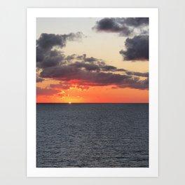 Orange Horizon Art Print