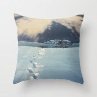 fargo Throw Pillows featuring Fargo by Linas Vaitonis