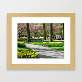 Keukenhof Tulip Festival, Holland Framed Art Print