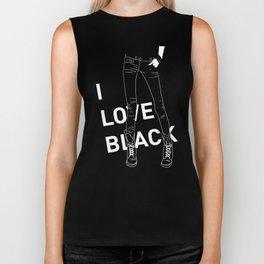 I love black Biker Tank
