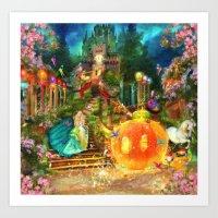 cinderella Art Prints featuring Cinderella by Aimee Stewart