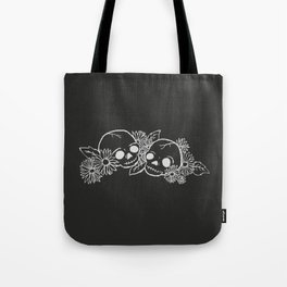 Twin Skeletons Noir Tote Bag