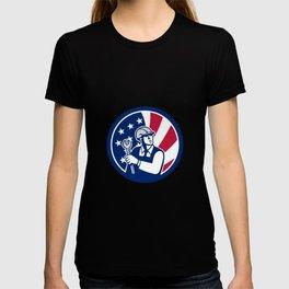 American Engineer USA Flag Icon T-shirt
