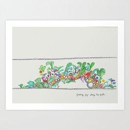 Finding Joy Along the Path Art Print