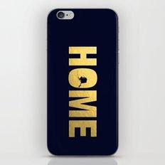 Alaska home state faux gold foil print iPhone & iPod Skin