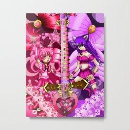 Sailor Mew Guitar #12 - Sailor Chibi Moon & Mew Zakuro Metal Print
