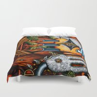 potato Duvet Covers featuring Sweet Potato by Thom Whalen