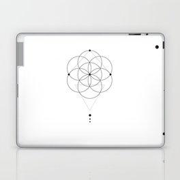 Seed Of Life Geometry White Laptop & iPad Skin