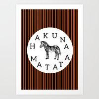 hakuna Art Prints featuring Hakuna Matata  by Shelby Thompson