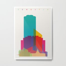 Shapes of Edmonton Metal Print