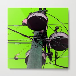 Industrial Electric Musings Metal Print