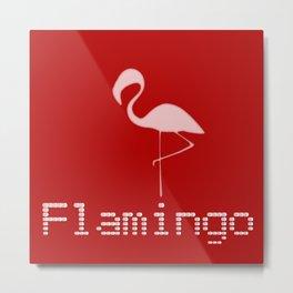 Flamingo Night Metal Print