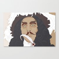 hook Canvas Prints featuring HOOK by Itxaso Beistegui Illustrations