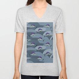 Swordfish Espadon   Pattern Art Unisex V-Neck