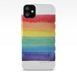 LGBT Flag, Gay Pride, Gay Rainbow, Rainbow, LGBT Rainbow, Watercolor, Watercolor Painting, iPhone Case