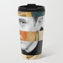 Egon Schiele's Self Portrait with Striped Shirt & James D. Travel Mug
