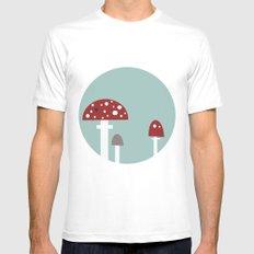 mushrooms Mens Fitted Tee White MEDIUM