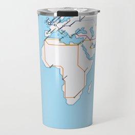 Rail Map of the World Travel Mug