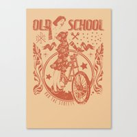 old school Canvas Prints featuring Old school by Tshirt-Factory