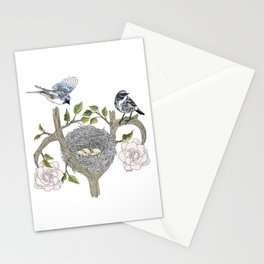 birds family Stationery Cards