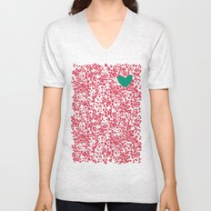 Animal Print Pink Unisex V-Neck