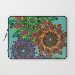 Swirls Abstract - Teal Laptop Sleeve