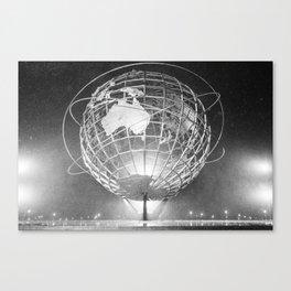Unisphere (Black and White) Canvas Print