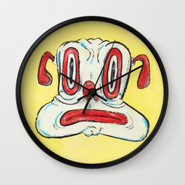 Grumpy (Dog Face) Wall Clock
