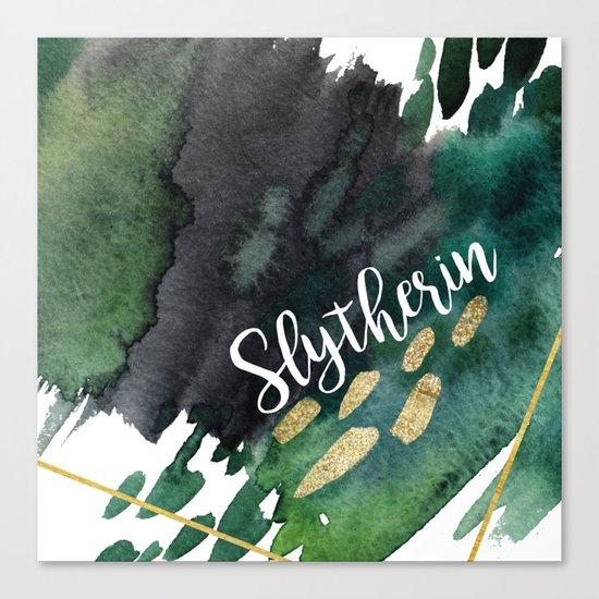 Slytherin Green Canvas Print