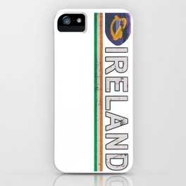 Ireland Flag Soccer Jersey Style iPhone Case