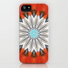Vibrant Orange Star iPhone Case