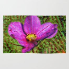DeepDream Flowers, Wild Flower, DeepDream style Rug