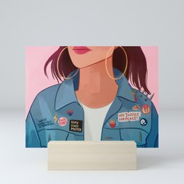 Jean Jacket Mini Art Print