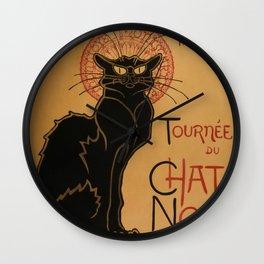 Le Chat Noir - Théophile Steinlen Wall Clock