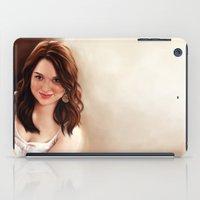 emma stone iPad Cases featuring Emma Stone by Chanuka Hemachandra