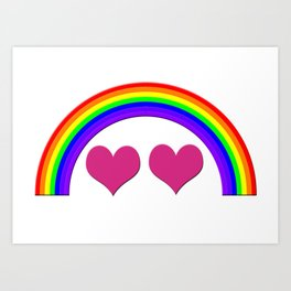 Rainbow Equal Love Art Print