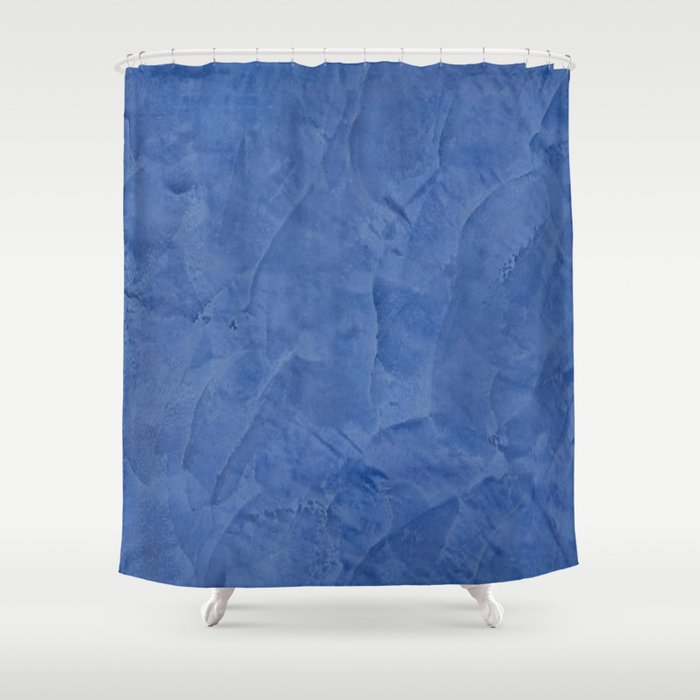 Tuscan Blue Plaster Shower Curtain by corbinhenry | Society6