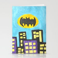bat Stationery Cards featuring Bat by Marialaura