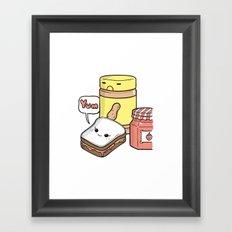 Friends Go Better Together 7/7 - Bread, Peanut Butter and Jam Framed Art Print