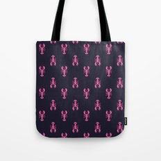 Pink Lobsters Pattern Tote Bag