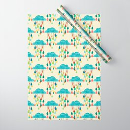 cloudy with a chance of rainbow Wrapping Paper