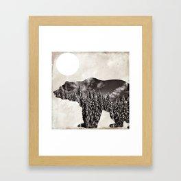 Going Wild Bear Framed Art Print